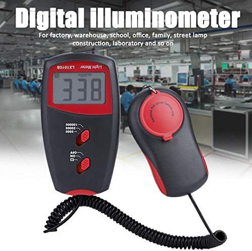 QWERTOUR Mini Light Meter Spectrometer LCD Display Environmental Testing Handheld Illuminometer Tools Luxmeter