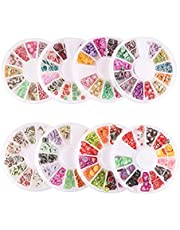 CCINEE 8 Cases of Fruit Cake Flower Animal Slices Perfect for Sticking to Slime, DIY Crafts, Nail Art and Decoration