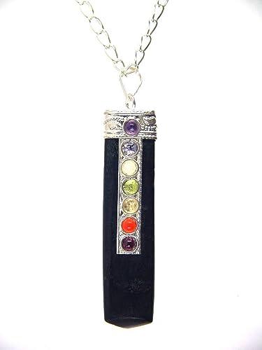 Crystal Point E0234 Silver Jewelry Making Black Tourmaline Necklace Black Tourmaline Pendant 1.5 Inch BLACK TOURMALINE Crystal Pendant