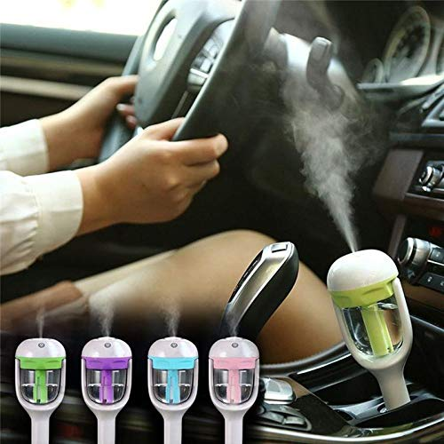 YIGEYI Steam Humidifier Air Freshener Purifier Car Diffuser Aroma Oil Diffuser Mist Maker Car Freshener The Perfect one for You (Color : Pink)