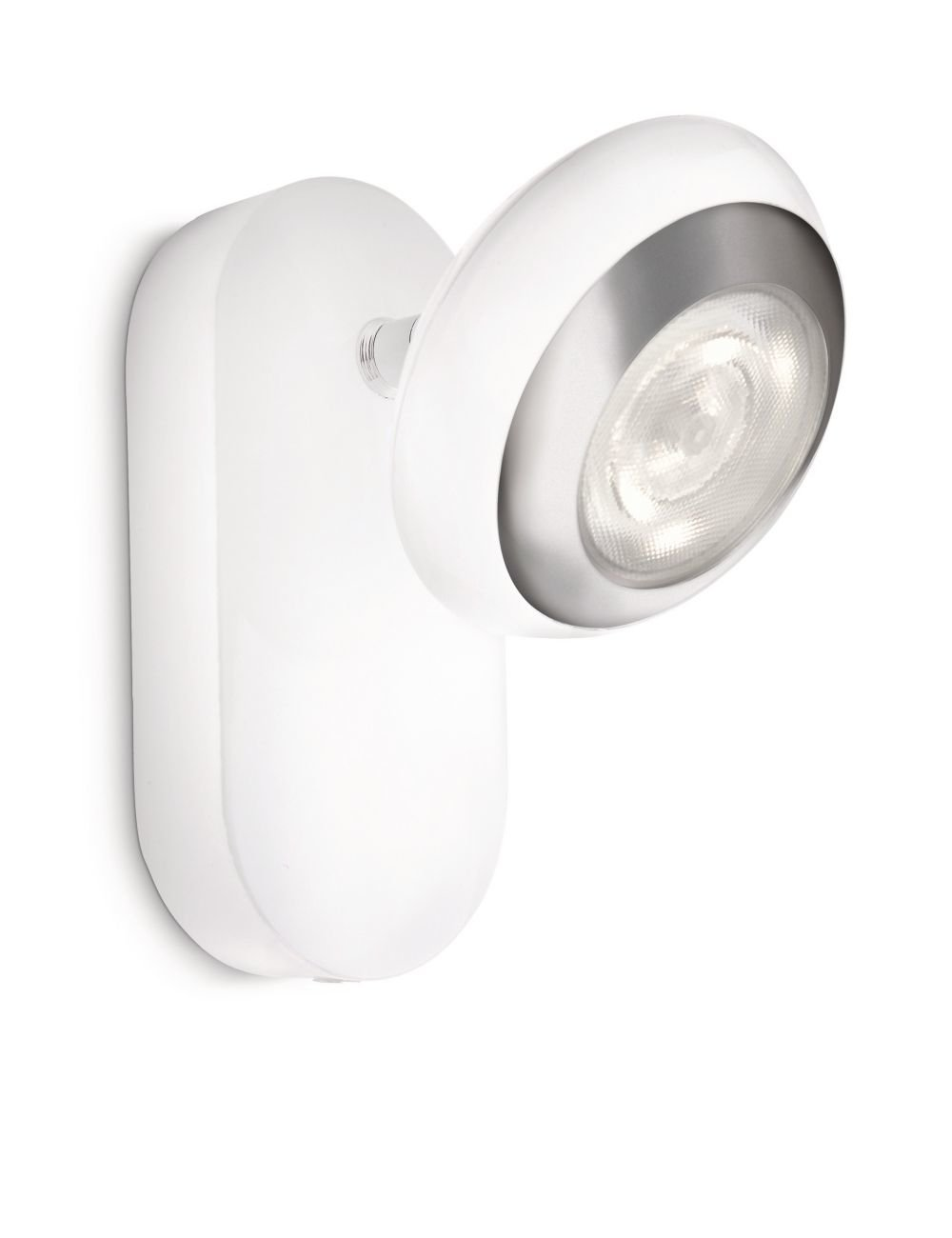 Philips myLiving Sepia - Foco de pared, LED, 1 luz, IP20, luz blanca cálida, 15000 h, color blanco 915004146801 100 12 30
