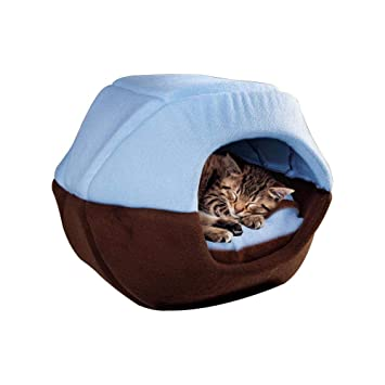 AUOKER - Tienda de campaña para Gatos, Lavable, para Mascotas, Perros pequeños, caseta portátil, Ideal para Todas Las Estaciones, con Parte Superior ...