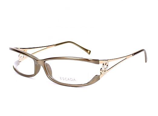 1741e69e75b Escada eyeglasses VES 058 S 7FN Acetate plastic Bronze - Gold  Amazon.co.uk   Clothing