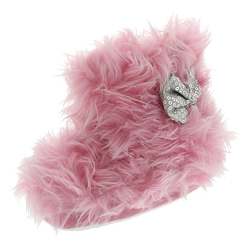 Chatties Toddler Girls Rock Star Furry Slipper Boots (X-Large 11/12, Light Pink)]()