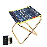 KOBWA Small Folding Chair,Mini Portable Folding Stool Ultralight Camping Folding Chair Outdoor Fold Chair for Camping Fishing Travel Beach with Carry Bag