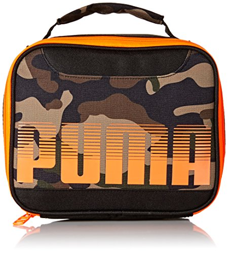 - PUMA Boys' Little Backpacks and Lunch Boxes, Black/Camo, Youth