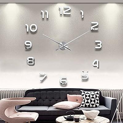 Digital Creative DIY parete orologio adesivi 3D stereoscopico ...
