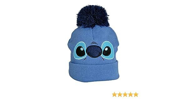 Nastrovje Lilo & Stitch Cara de Punto de Sombrero de Disney con Azul de Bommel Elbenwald