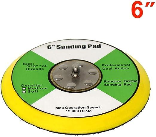 "Toolman 6/"" Hook and Loop Baker plate for Polishing sanding buffing pad"