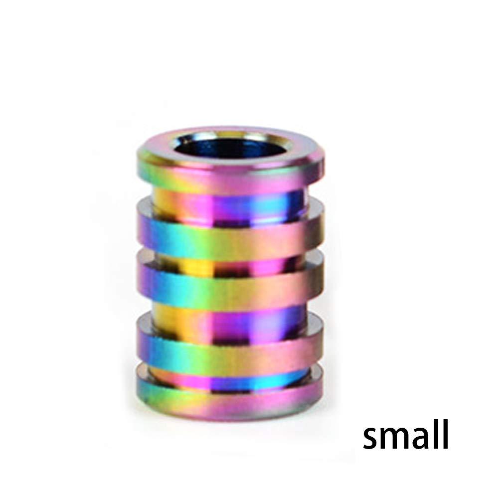 joizo 1pc Lega di Titanio edc Pendente Corda Paracord Tubo Cordino Zipper Sweater Paracord Beads allaperto Ciondolo Autunno colorato di Piccola Dimensione