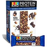 KIND Protein Bars, Double Dark Chocolate Nut, Gluten Free, 12g Protein,1.76oz, 12 count