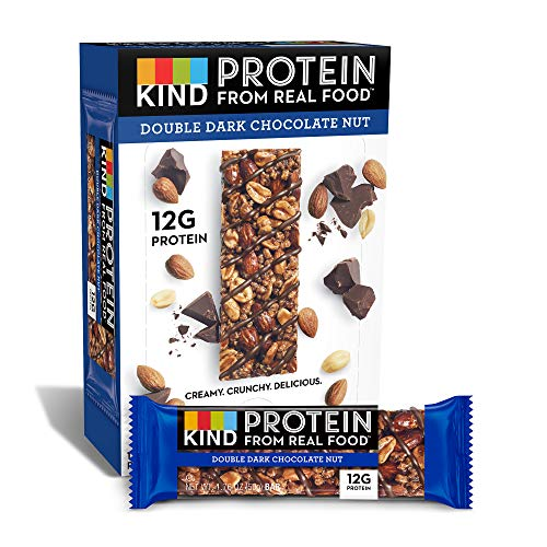 KIND Protein Bars, Double Dark Chocolate Nut, Gluten Free, 12g Protein,1.76oz, 12 count ()