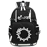 Siawasey Anime The Seven Deadly Sins Cosplay Luminous Bookbag Backpack School Bag