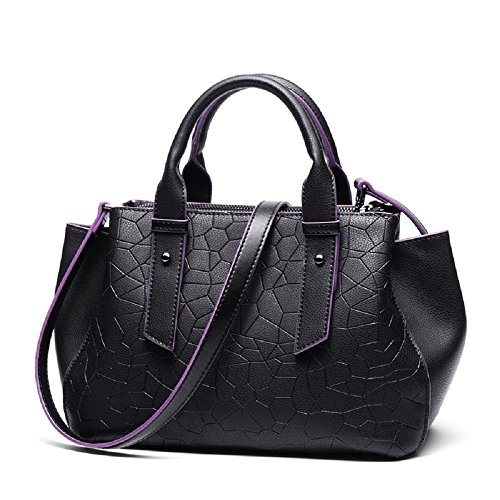 W Cm l New Top H 14 Handbag Mexican Long Cowhide Genuine Stiya Strap Black 29 20 5cm Style With 100 Leather wT4qYxU7