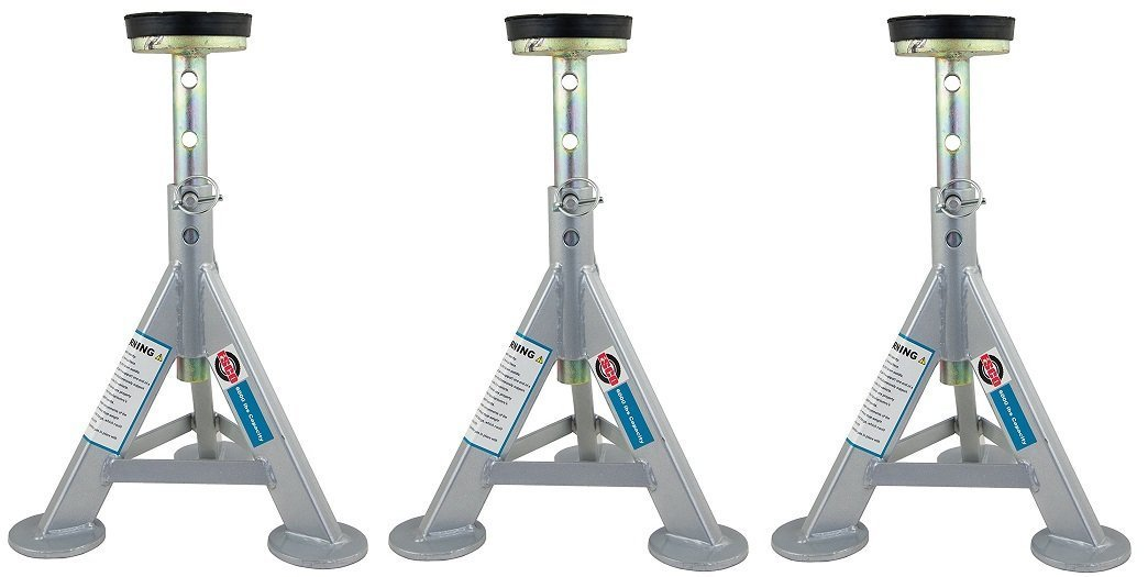 ESCO 10498 Jack Stand, 3 Ton Capacity (Pack of 3)