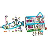 LEGO Friends Amusement Park Roller Coaster 41130 Toy for Girls and Boys with LEGO Friends Stephanie's House 41314 Toy for 8-Year-Olds Bundle
