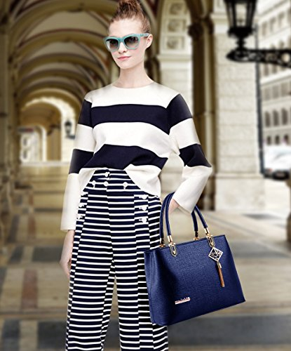 for Tote Ladies Work Blue Handbag Shoulder Fashion Hot Women Purse Sale black New amp;Doris Bag Crossbody Nicole tq7wfaPzn7