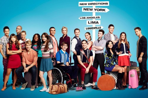 Glee Poster 24x36 inches Lea Michele Jane Lynch Dianna Agron