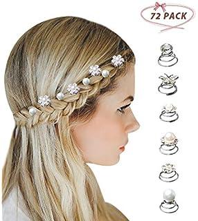 12x Bridal Wedding m Crystal Flower Hair Coils Swirl Spiral Twist Pin