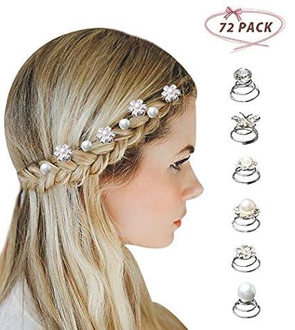 Astounding Surplex 72 Pieces Spiral Twist Hair Pins Flower Swirl Hair Pins Natural Hairstyles Runnerswayorg