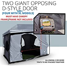 Standing Room 12X12 Family Cabin Tent 8.5 ' OF HEAD ROOM 4 Big Screen Doors Fast Easy Set Up Full waterproof Fabric Ceiling NOT LEAKY MESH SCREEN,FULL TUB STYLE Floor CANOPY FRAME NOT INCLUDED