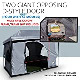 Standing Room PREMIUM Family Cabin Tent 8.5 ' OF HEAD ROOM 4 Big Screen Doors Fast Easy Set Up Full waterproof Fabric Ceiling NOT CHEAP LEAKY MESH screen FULL TUB STYLE Floor CANOPY FRAME NOT INCLUDED
