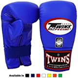Twins Special Muay Thai Training Bag Gloves TBGL 1F Full Thumb and TBGL 1H Half Thumb Size: Meduim Large Color Black Blue Red White Yellow Orange green Bag boxing gloves for Muay Thai Boxing MMA K1