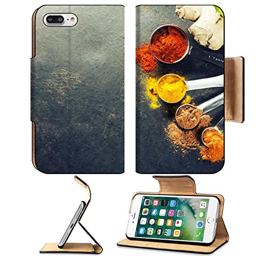 - Luxlady Premium Apple iPhone 7 Plus Flip Pu Leather Wallet Case iPhone7 Plus 34112046 Herbs and spices selection close up