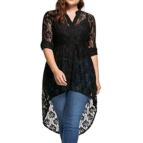 Cold Shoulder Tops,Toimoth Womens Plus Size Casual Ribbed Split T-Shirt Tops Blouse(Black1,XXXXL) ()