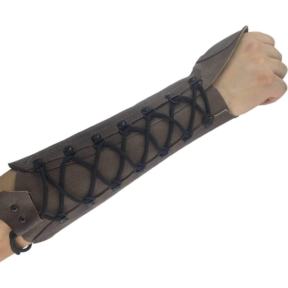 ArcheryMax Handmade Antique Leather Arm Guard Bow Hand shooting Glove,Right Hand by ArcheryMax