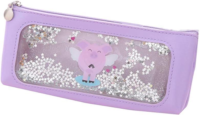 PPING Estuche pequeño Escolar Estuche Escolar pequeño Adolescente Estuches de lápices para Chicas Adolescentes Grandes Purple Single: Amazon.es: Hogar