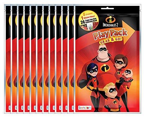 Disney Pixar The Incredibles 2 Grab and Go Play Packs (Pack of -