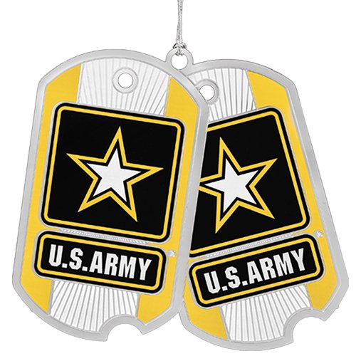 Beacon Design by ChemArt US Army Dog Tag Ornament