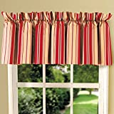 80″ x 15″ Striped Valance, Birkdale Red For Sale