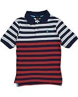 """U.S. Polo Assn. Little Boys' Toddler """"Dual Color Stripe"""" Pique Polo"""
