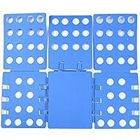 FHSFG Tablero Plegable de Plástico,Carpeta de Ropa para Adultos,Carpeta de Ropa,Tabla para Doblar Ropa,Doblador de Ropa…