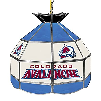 Image of Billiard Lighting Trademark Gameroom NHL Colorado Avalanche 16' Handmade Tiffany Style Lamp