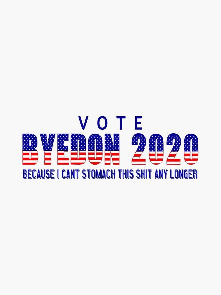 MAGNET Vote BYEDON 2020 NSFW Magnetic Vinyl Car Bumper Sticker 5