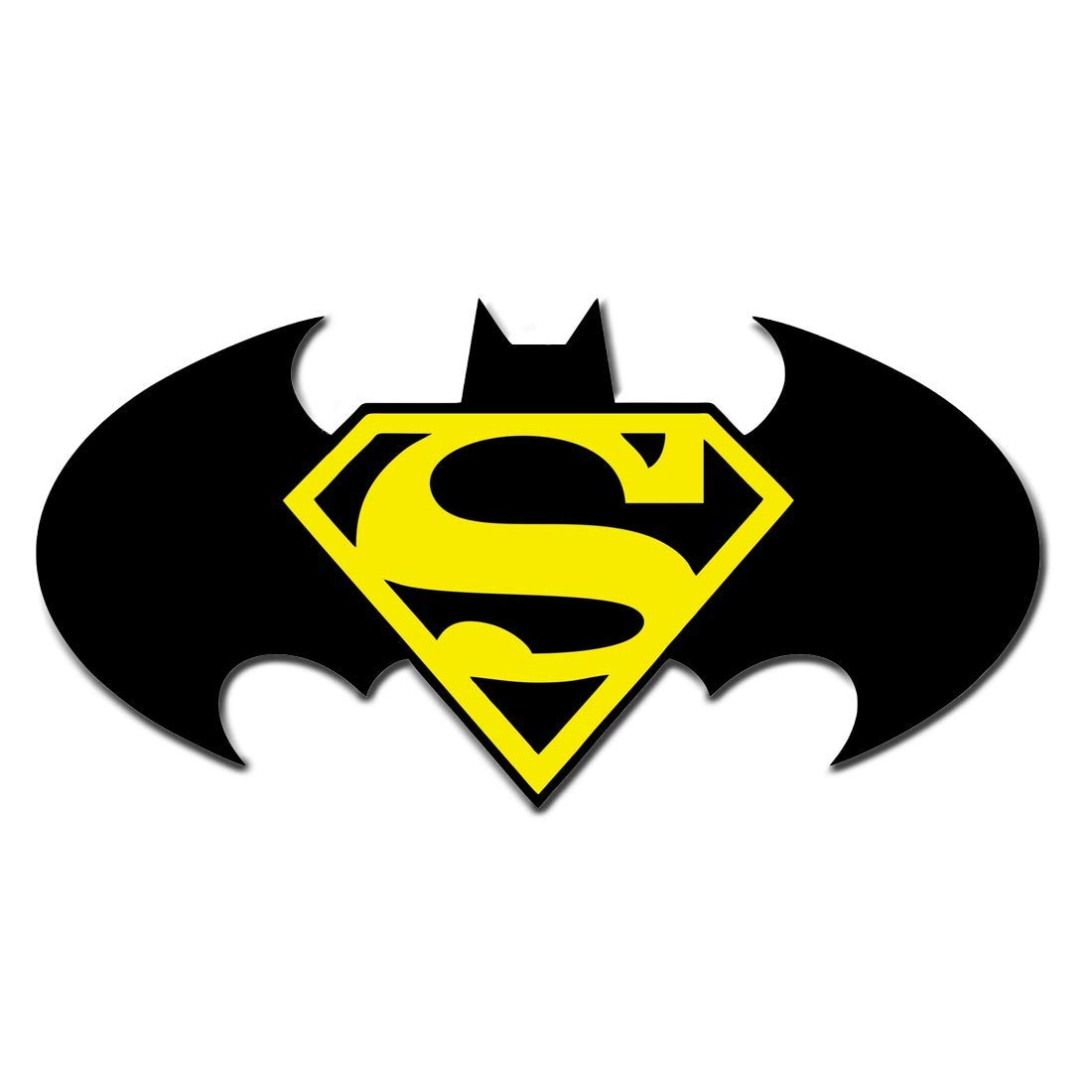 Generic batman superman combined 3d emblem decal acrylic car bike sticker amazon in car motorbike