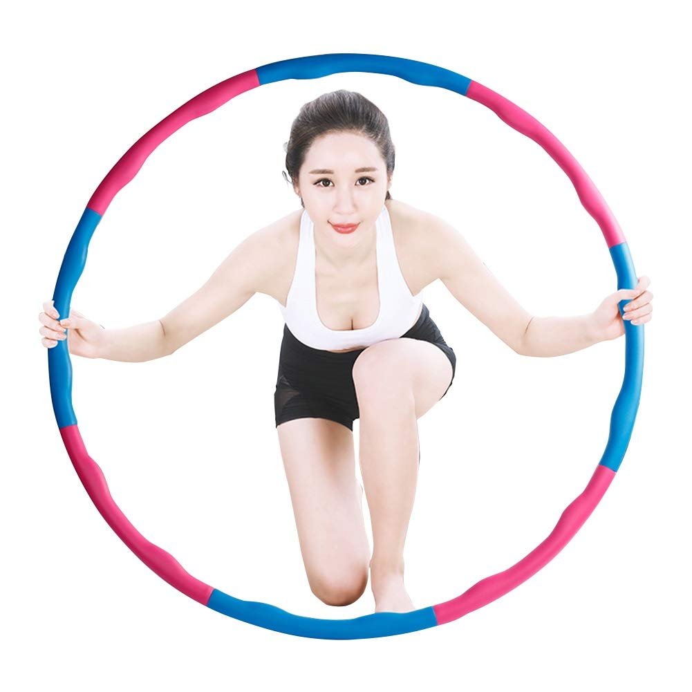 Hula Hoops Health Hoop 8 Sections Removable Diameter 95cm Calisthenics HUYP (Color : Blue)