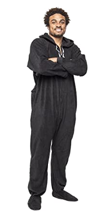 6ed848fdb0 Forever Lazy Footed Adult Onesie - Black to Sleep - XXS