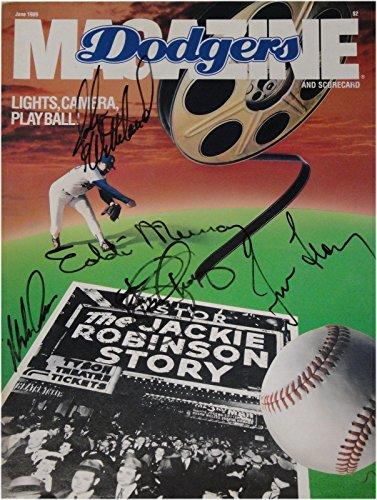 06 Shelby - Eddie Murray Tim Leary John Wettland John Shelby Signed Dodgers Magazine 06/1989