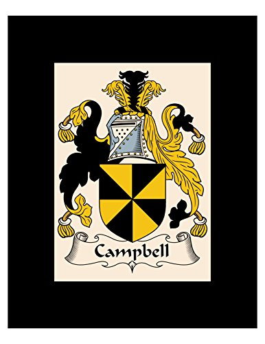 Carpe Diem Designs Campbell Coat of Arms/Campbell Family Crest 8X10 Photo Plaque, Personalized Gift, Wedding ()