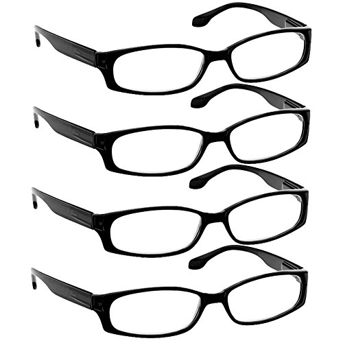 Reading Glasses 1.75 4 Black (4 Pack) F503 TruVision - Fashion Eyewear Review