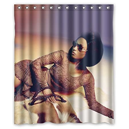 LOVELIFE Nicki Minaj Sexy Girl Model Music Celebrity Custom Shower Curtain 60 Amazoncouk Kitchen Home