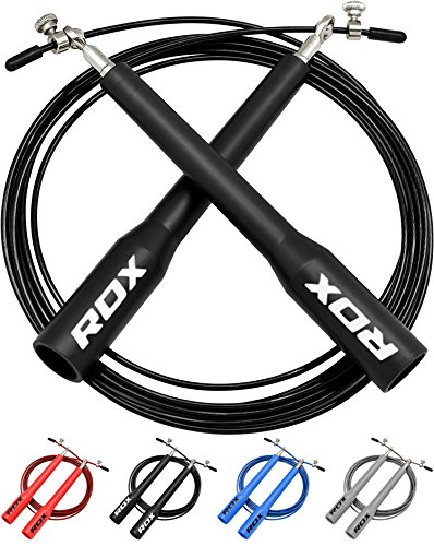 RDX Skipping Rope Adjustable Steel Gym Jump Speed Lose Weight Gymnastics Fitness MMA Boxing Crossfit Jumping Metal Cable Exercise Training Workout