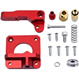LEOWAY MK8 Extruder Upgraded Replacement, 3D Printer Extruders for Aluminum Drive Feed Kit Accessories for Creality CR-10 Series and Other Reprap Prusa 3D Printers [Left Hand Version]
