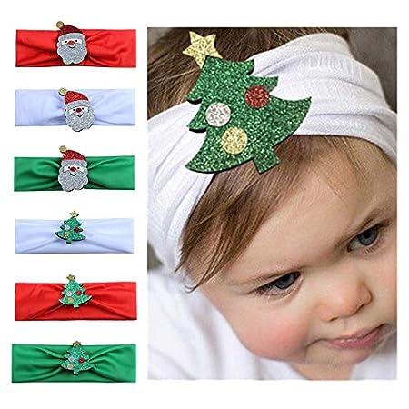 Qinlee Weihnachten Stirnband Madchen Kopftuch Haarbander