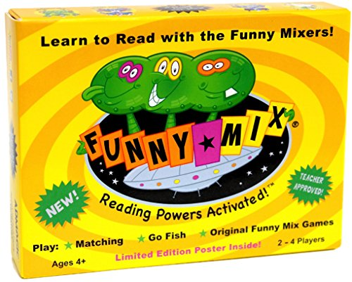 Funny Mix Superhero Phonics Game Prek-2nd Grade (durable plastic cards)]()