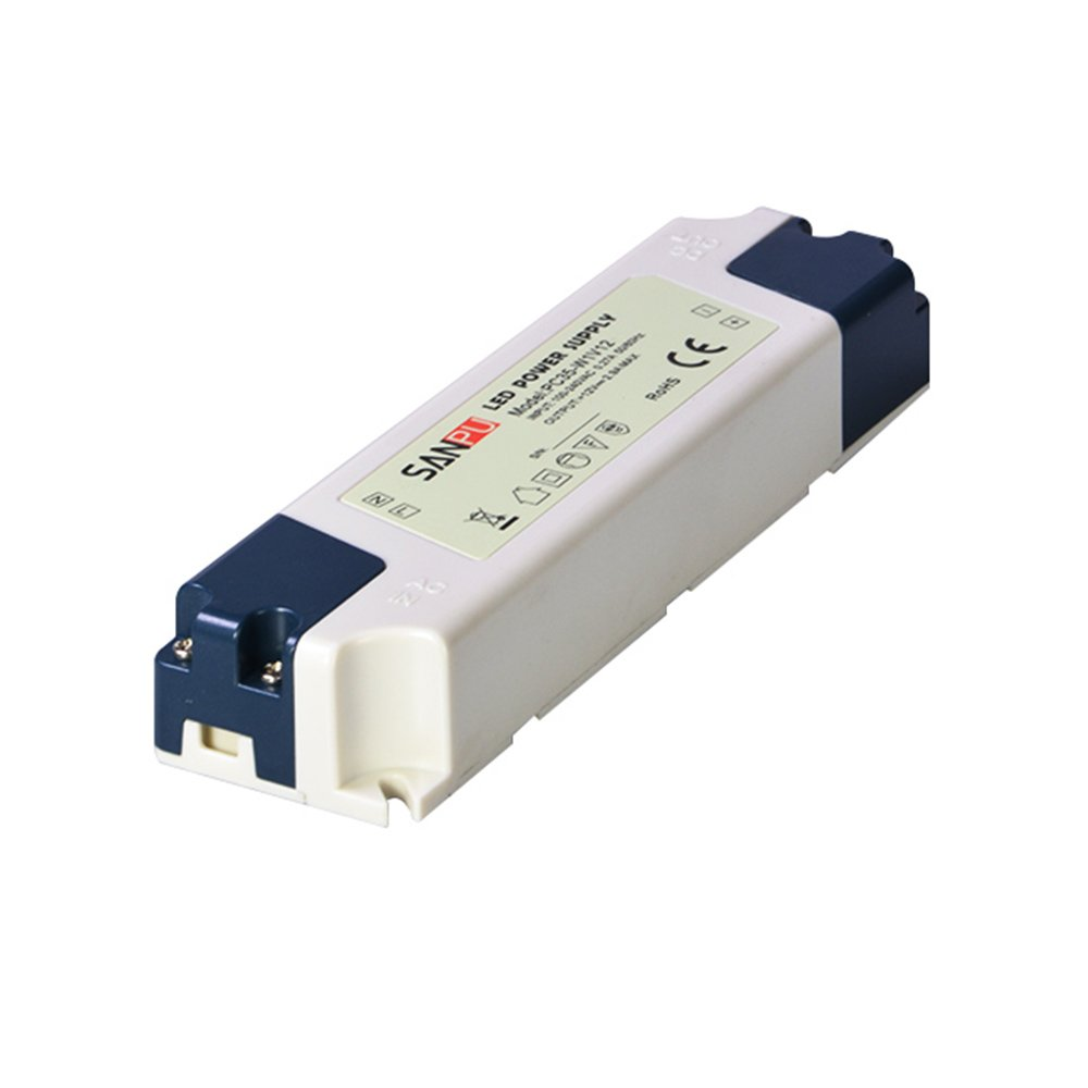 Slim LED Power Supply 12V 35W AC to DC 12 Volt Lighting Transformer 12VDC LED Driver IP44 Dustproof Plastic (SANPU PC35-W1V12)